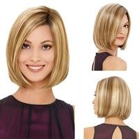 Wish   Fashion Short Bob Wigs Full Wig Human Hair Curly Wigs Lace Front Wigs (Size: 35 cm)