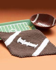 Lily® Sugar 'n Cream® Touchdown Dishcloth #knit #pattern