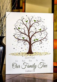 Family Tree Print - 11x14 - Personalized Family Tree