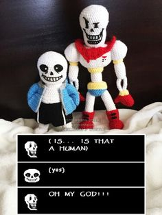 Crochet Sans and Papyrus