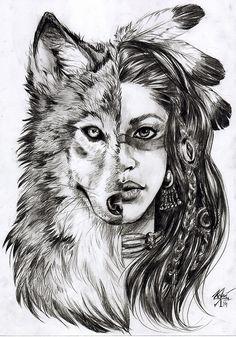 волк рисунок карандашом поэтапно - Поиск в Google