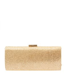 Jimmy Choo Tube Gold Lame Glitter Clutch--$379.50 #JimmyChooHandbags #JimmyChooClutches Buy this clutch on our site, now! http://www.cashinmybag.com/product/jimmy-choo-tube-gold-lame-glitter-clutch/