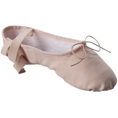 Womens Danshuz Split Sole Canvas Ballet ($23) ❤ liked on Polyvore