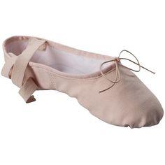 Womens Danshuz Split Sole Canvas Ballet ($23) ❤ liked on Polyvore