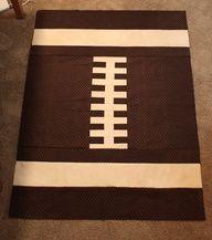 Football quilt. #boypatterns
