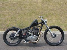 skinny and short Cb750 Bobber, Bobber Bikes, Bobber Chopper, Vintage Motorcycles, Custom Motorcycles, Custom Bikes, Cars And Motorcycles, Enduro Motorcycle, Motorcycle Design