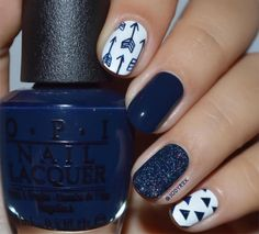 Classy Nail Art Designs for Short Nails Great ready to book your next manicure, because this nail in Cute Nail Art Designs, Orange Nail Designs, Short Nail Designs, Nail Design For Short Nails, Navy Blue Nail Designs, Navy Blue Nails, Classy Nail Designs, Classy Nail Art, Cool Nail Art