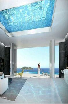 Millionaire Beach House -Pool is on the Ceiling - ♔LadyLuxury♔