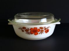 Retro Vintage Crown Agee Pyrex Flower  Geraldton Wax by FunkyKoala