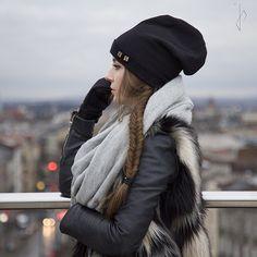 czapki i kapelusze - unisex-Czapka- beanie, z Twoimi inicjałami, czarna
