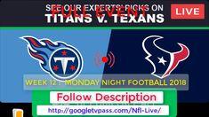 ((Titans vs Texans Live)) Monday Night Football Info: Odds, Predictions