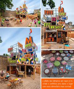Cafeteria feita com contêineres Projeto Container |