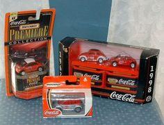 Coca Cola Vw Beetle & Concept 1 Lot Of 4 Vehicles - Matchbox - Coke - Mib