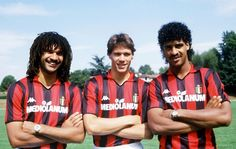 Gullit,Van Basten and Frank Rijkaard