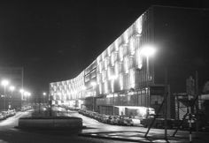 """This is Birmingham on Twitter: """"Ringway Centre by night, November 1960.    © D. J. Norton. https://t.co/LxAOmLX3IV"""""""