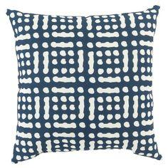 Surya Mizu Sienna Rose Indoor/Outdoor Pillow Navy - MZ018-1818