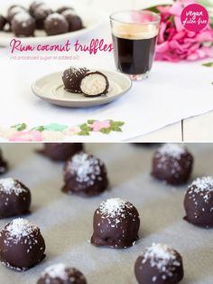 Vegan coconut truffles are a beautiful treat that goes nicely with your afternoon coffee or tea. They only use 4 ingredients, no processed sugar or oil.