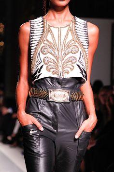 No words necessary. Balmain leather.