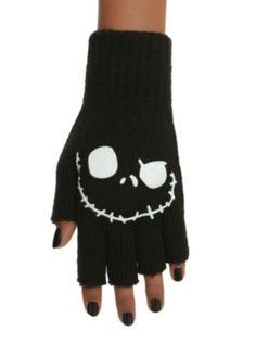 The Nightmare Before Christmas Jack Fingerless Gloves ($6.65-9.50) - Hot Topic