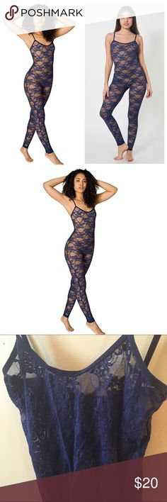 Lace Catsuit | Size XS/S | $10 when you bundle Bundles always 1/2 off EVERYDAY! American Apparel Lace Unitard Size: XS/S Nylon/Spandex Blend In perfect condition BUNDLES are always 1/2 off in my closet!! American Apparel Intimates & Sleepwear Shapewear