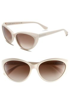 "Tom Ford ""Marina"" Retro Sunglasses--I've wanted a pair of white sunglasses for awhile, and these would be perfect."