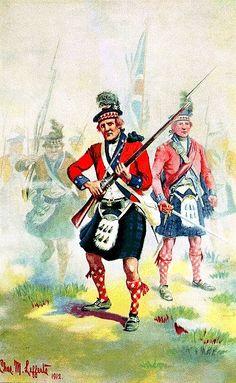 British Fortieth Regiment of Foot, 1776.