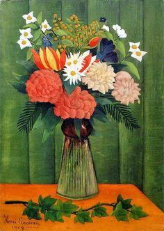 "Henri ""Le Douanier"" Rousseau (French, 1844-1910) - Flowers in a Vase, 1909"