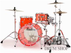 Pearl Crystal Beat Acrylic Drum Set 20/12/14 - Ruby Red