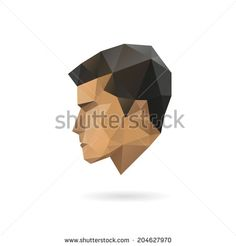 Man Face Profile Stock Vectors Vector Clip Art
