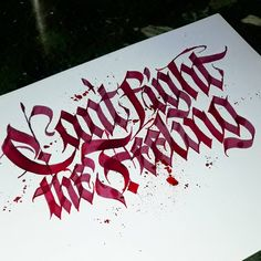 'Can't fight the Feeling' #calligraphy #calligraphymasters #calligraffiti #handlettering #handwriting #handstyle #freehand #lefthand #lefty #gothic #brush #custom #fraktur #lettering #paindesignart #tyxca @handmadefont #typematters #typism #typegang #goodtype #artoftype #thedailytype #designspiration