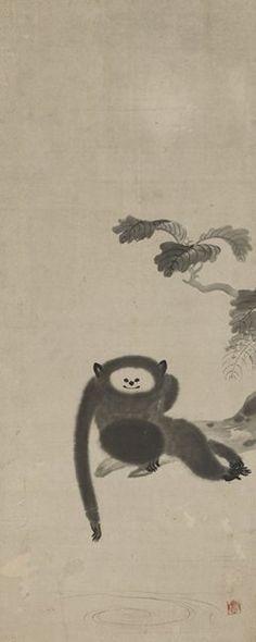 狩野山雪「猿猴図」