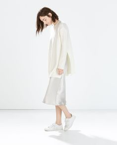 Image 1 of LONG SWEATER WITH SIDE SLITS from Zara
