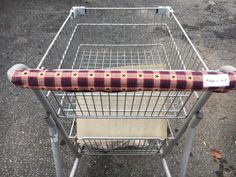 Shopping Cart Cover, Shopping Cart Handle Cover, Cart Cover,  Primitive Red &Star Print Cart Cover, Shopping,  Handy Cart Cover