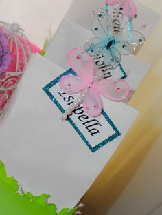 Butterfly Theme 1st Birthday Party (twins) By: La Chic Treat GIFT BAGS www.LaChicTreat.com 631.747.2630