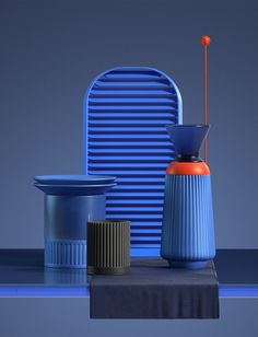 Art-like and vibrant, the Aesthetifacts Project by Diego Diapolo and Ezequiel Pini for Six N. Five displays the creativity of experimental design. Ecole Design, 3d Design, Design Trends, Shape Design, Clean Design, Kitchen Industrial Design, Industrial Design Portfolio, Modern Industrial, Le Manoosh
