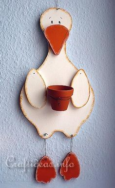 Wood Craft - Goose Plant Holder 2