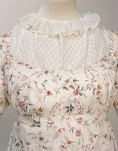 Dress (image 3) | England | 1795-1800 | cotton, linen | Manchester Art Gallery | Accession #: 1956.6