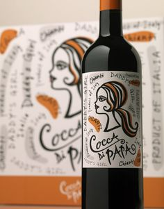 Cocca Di Papá - Italy Wine Canopy Management Wine Label  Package Design Italy