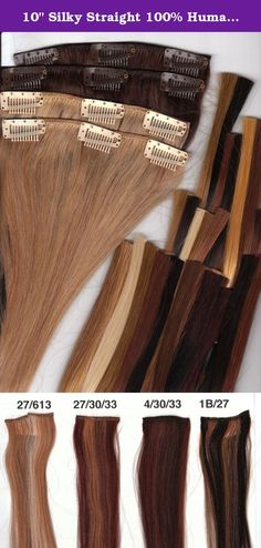 "10"" Silky Straight 100% Human Hair Clip On In Extensions 8 Piece Set Color 27/30/33 Light Auburn/Medium Auburn/Dark Auburn. 100% Human Hair Clip In Extensions, 10"" Length, Full Set (8 pieces), Silky Straight Clip in takes just a few minutes, Fast and quick way to get longer, fuller hair for any occasion, or everyday use. You can hardly feel the clips once they are in, they are comfortable, and will stay in place until you are ready to take them out. This set is all you will need for most…"