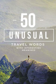50 Unusual Travel Words with Interesting Meanings – I am Aileen <br> Ever been at a loss for words to describe an experience? Here are the best unusual travel words in different languages to help invoke some inspiration! Young Quotes, I Am Quotes, Scottish Words, German Words, Beautiful Meaning, Most Beautiful Words, Unusual Words, Unique Words, Alone