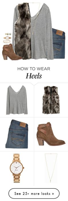 """if you want to stay updated read d"" by kaley-ii on Polyvore featuring Abercrombie & Fitch, H&M, Pilgrim, H by Hudson, Alexis Bittar, Kate Spade and Majorica"