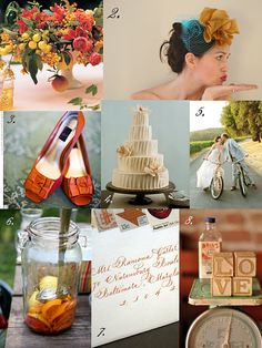 Tangerine and lemon Weddings  Think this would be good for my friend Katies wedding!