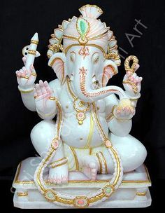 The Hindu God Idols is frightening....  Some of the Hindu gods are cute like Ganesh.