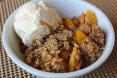 Perfect Peach Cobbler with Brown Sugar Crumble by Deals to Meals--this is peach season, so pick up some fresh peaches and make this amazing cobbler! The perfect summer dessert!