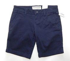 Aeropostale Stretch Women's Flat Navy Blue Bermuda, Walking Shorts Size 0 – Style Shanty