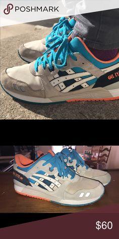 ASICS GEL LYTE III Bright orange off white and blue gel lytes Asics Shoes  Sneakers Blue c71f5f79b2e
