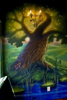 Neverland Playroom mural idea as seen on www.findamuralist.com