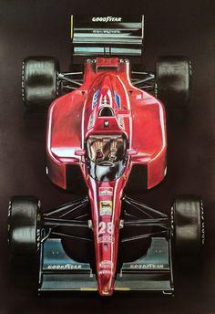 F1 Ferrari 643 drawing by Tony Regan. www.f1artprints.co.uk