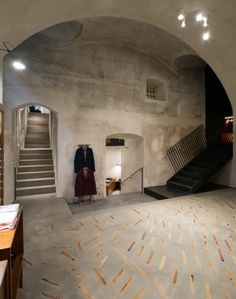 turino shop floor concrete and wood