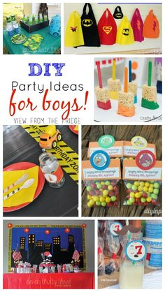 A roundup of fun, creative, and unique birthday party ideas for boys. Full of inspiration and color ... you're sure to find something for your next bash!